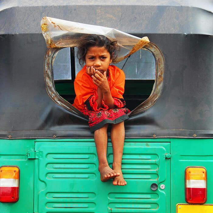 Sri Lanka, tuk tuk, enfant