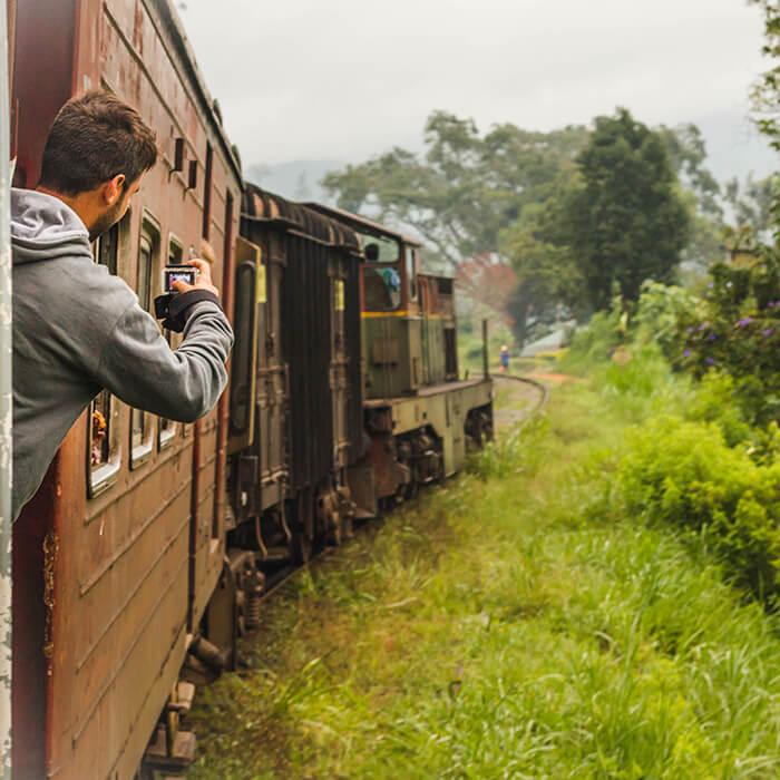 Sri Lanka, région montagneuse, trajet en train
