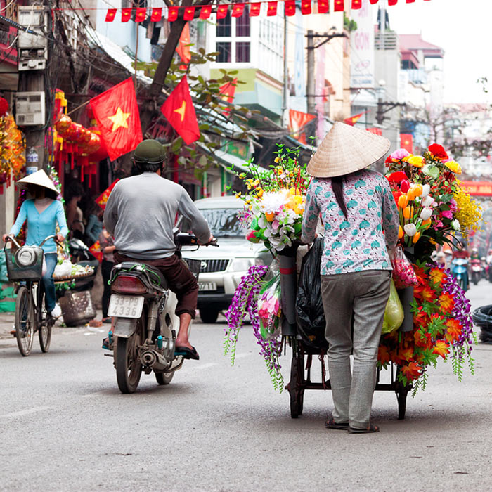 Vietnam, Capitale Hanoï, Rues