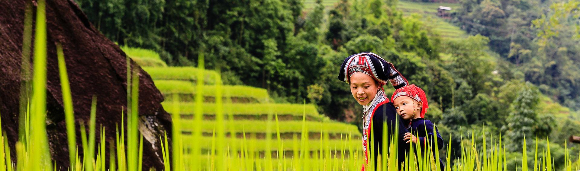 Vietnam, ethnie, femme, enfant