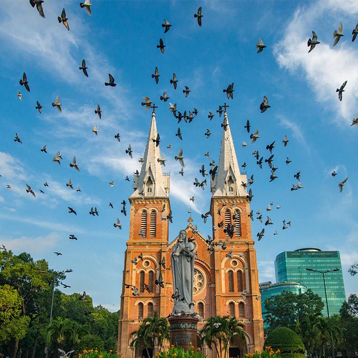 Vietnam, Ho chi Minh, Cathédrales