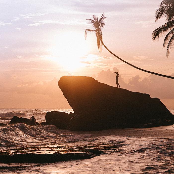 Sri Lanka, Dalawella, Coucher de soleil @Clara Ferrand