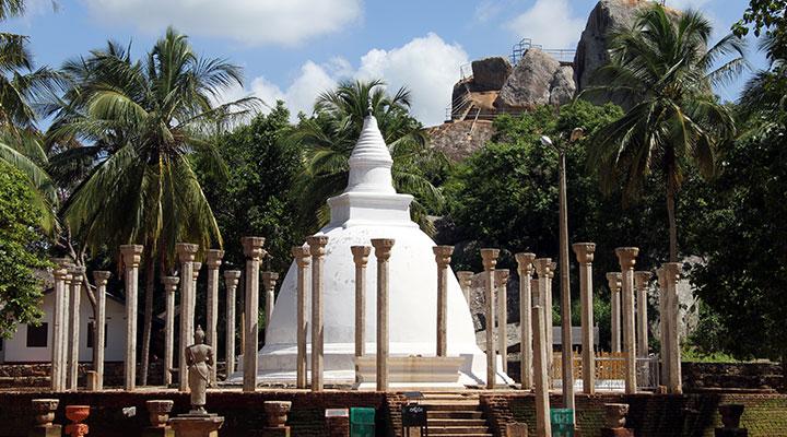 Visite de l'arbre sacré Sri Maha Bodhi
