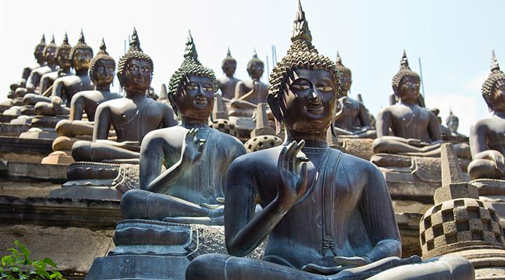 Temple bouddhiste à Colombo