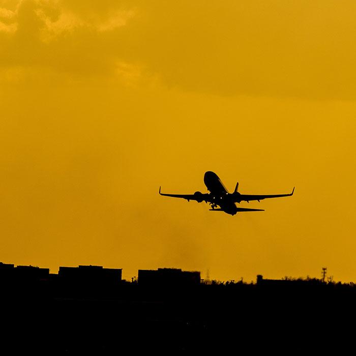 Avion, décollage, Cambodge