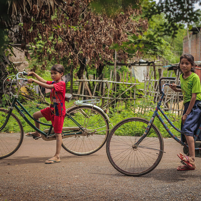 Enfants, province, Cambodge