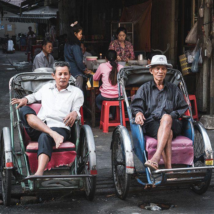 Cyclo pousse, Phnom Penh, Cambodge