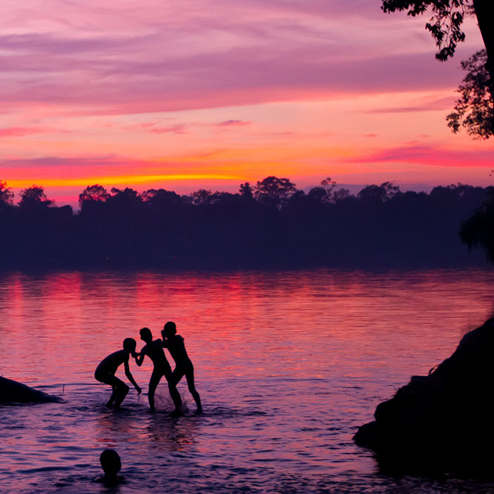 Rivière Stung Sen, province de Kampong Thom, Cambodge