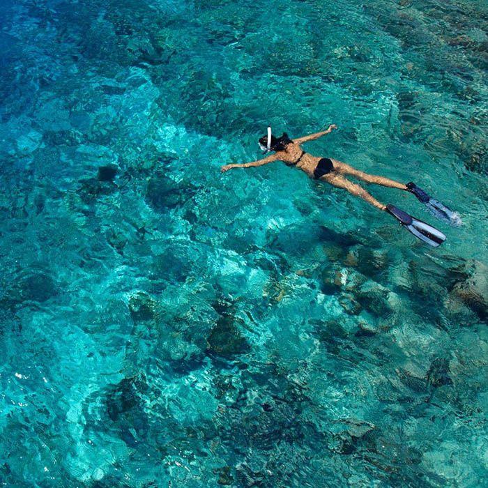 Snorkeling, Île des Bambous, Cambodge