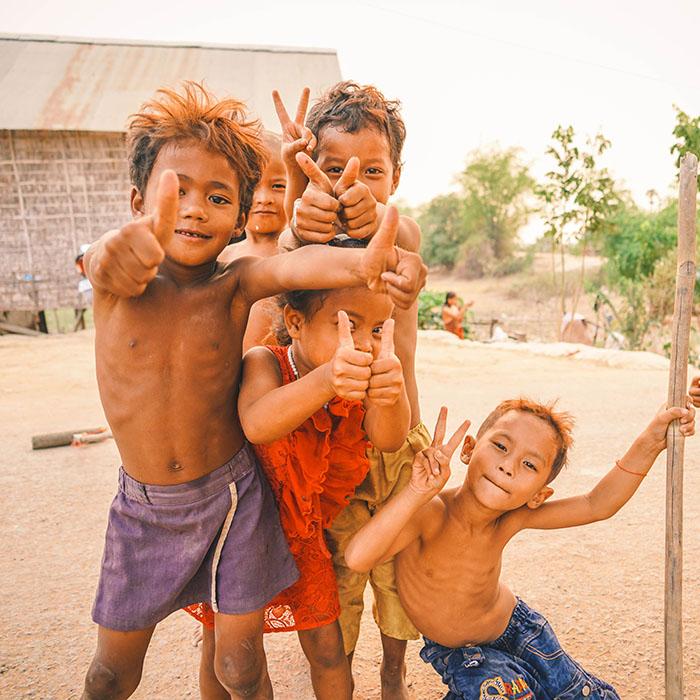 Enfants, Cambodge