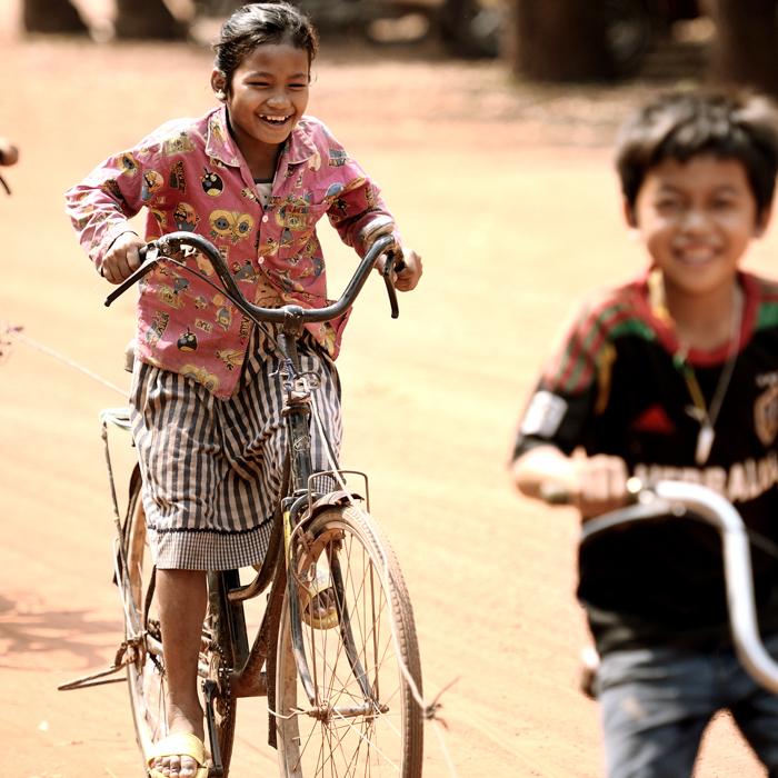 Cambodge, Enfants, Province, Siem Reap
