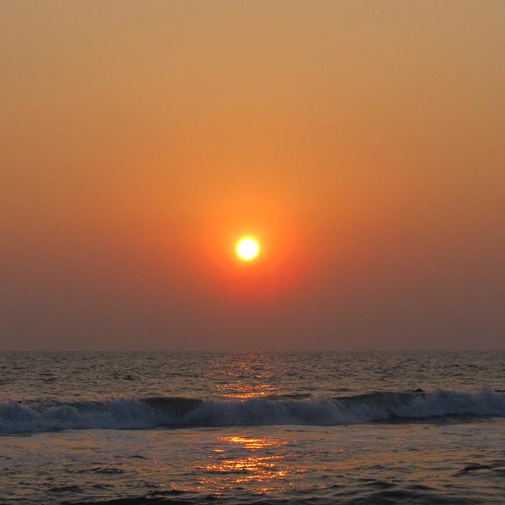 Coucher de soleil, Cochin, Inde