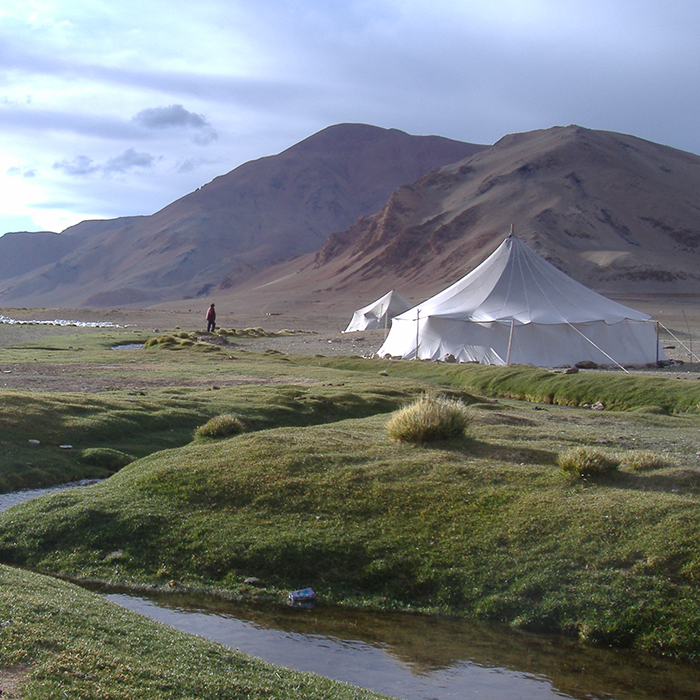 Inde, Ladakh, Excursion, tente