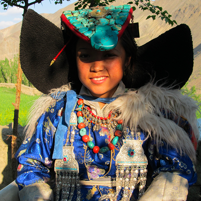 Inde, Ladakh, Tenue Traditionnelle