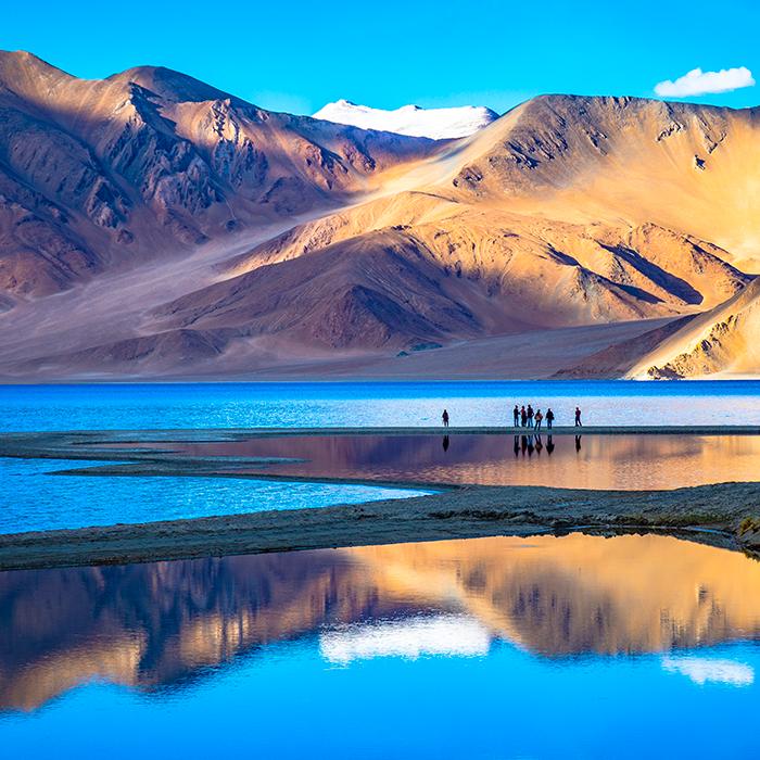 Inde, Ladakh, Leh, Montagne, Lac