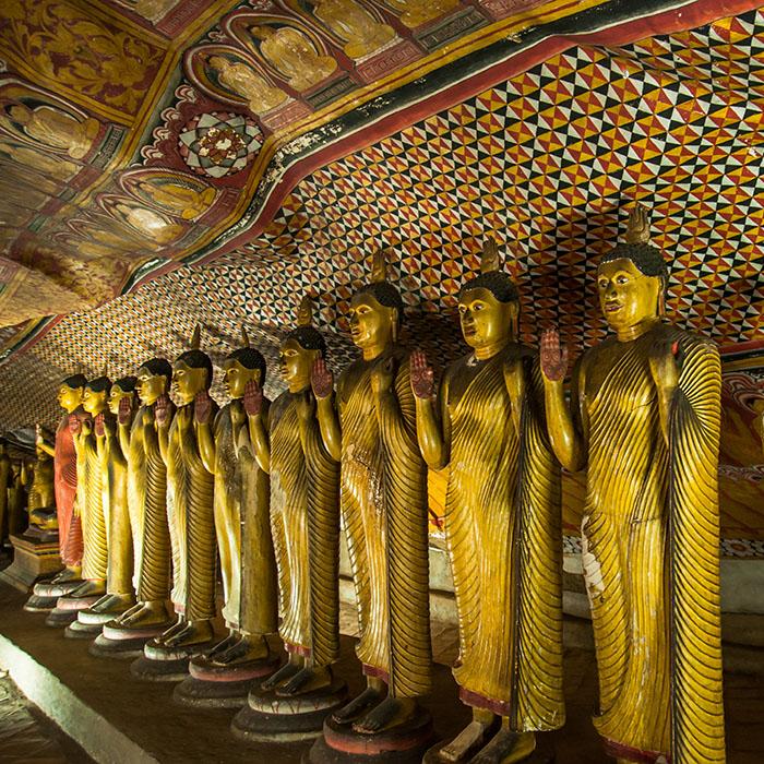 Statues Bouddha, Dambulla, Sri Lanka