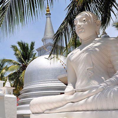 Temple bouddhiste, île de Nainativu, Jaffna, Sri Lanka