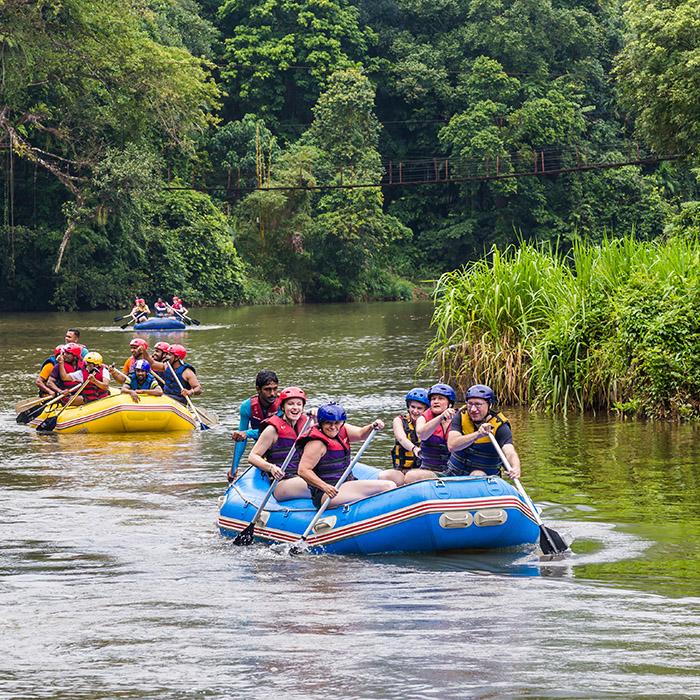 Sri Lanka, Kitulgala, Rivière Kelani, Rafting