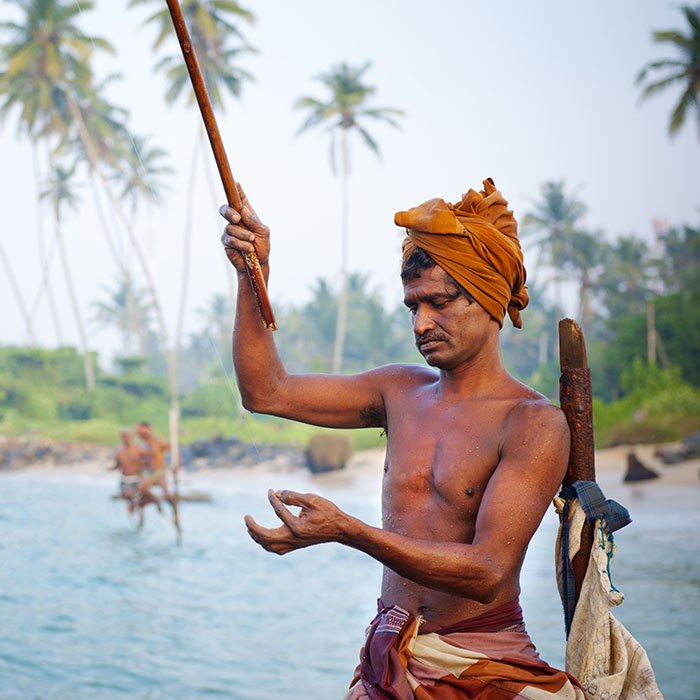 Pêcheurs, Ahangama, Sri Lanka