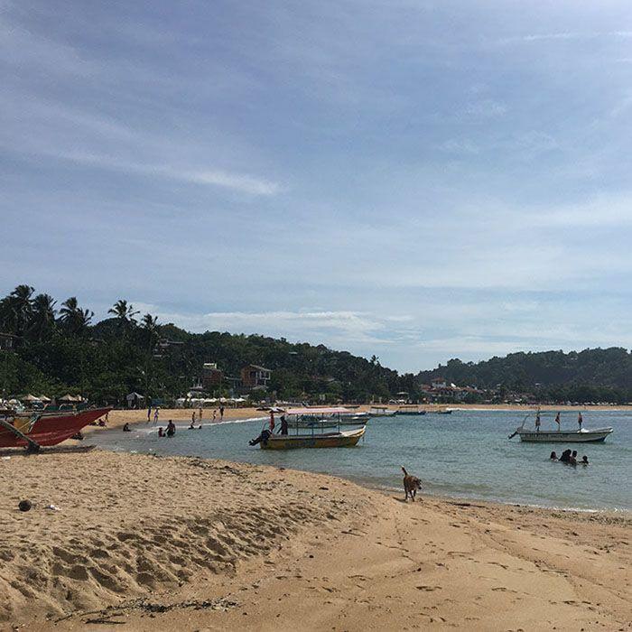 Sri Lanka, Unawatuna, Plage