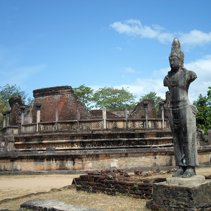 Ruines, Cité, Polonnaruwa, Sri Lanka