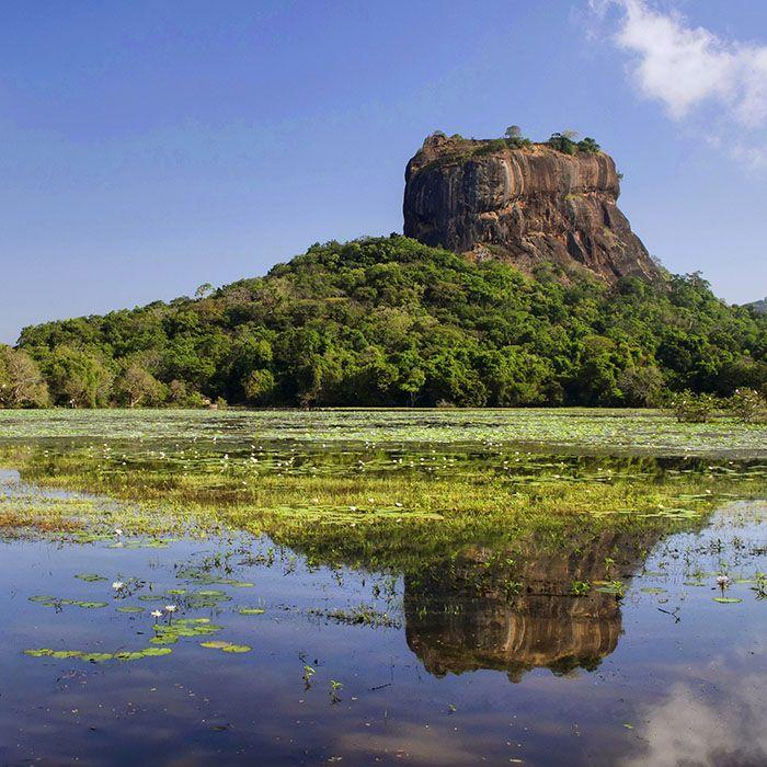 Sri Lanka, Sigiriya, Rocher, Lac