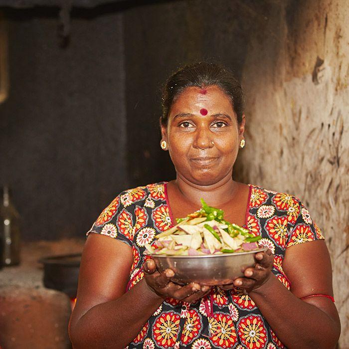 Femme, cuisine, Sri Lanka