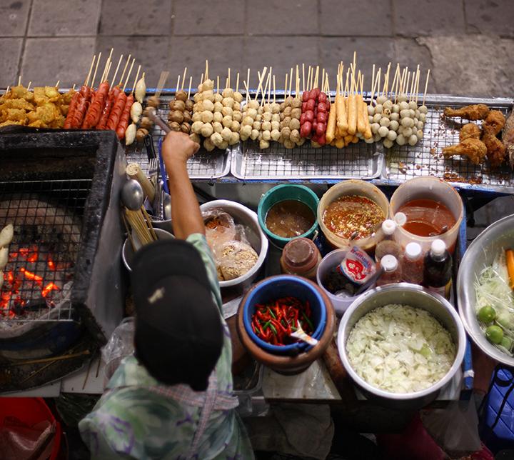Thaïlande, Bangkok, Cuisine de rue