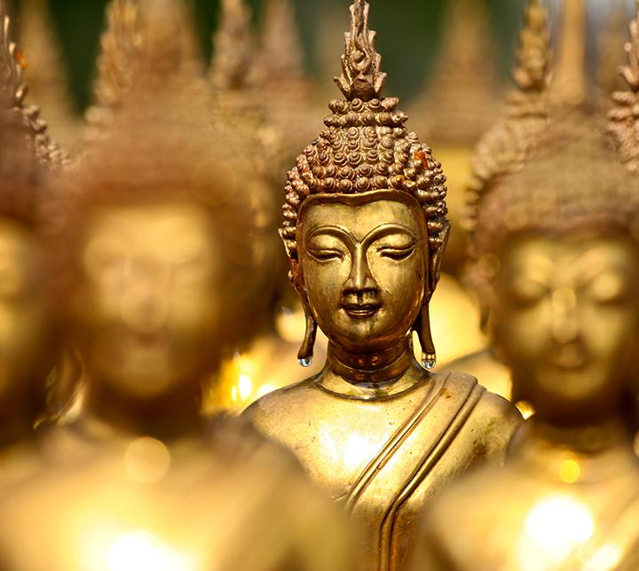 Thaïlande, Statues, Bouddha, Doré