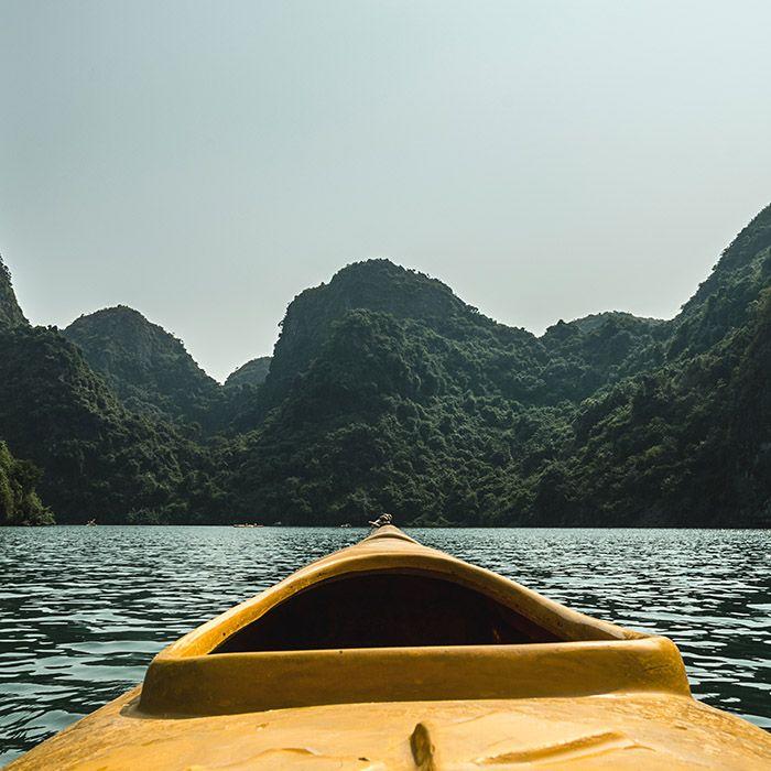 Kayak, Baie d'Halong, Vietnam