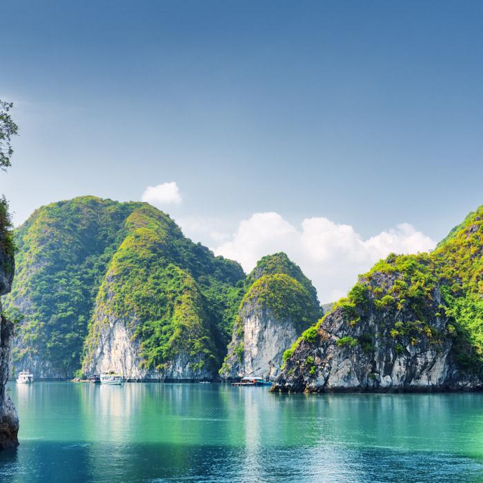 Vietnam, vue, Baie halong