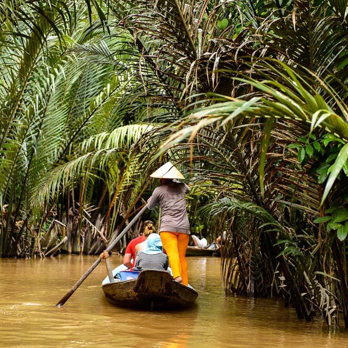 Bateau, Fleuve, Mekong, Vietnam