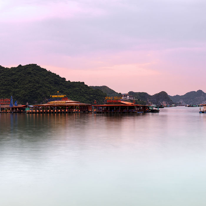 Vietnam, Cat Ba, Lever de soleil