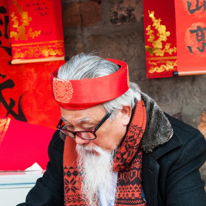 Vietnam, Hanoi, Maitre écriture