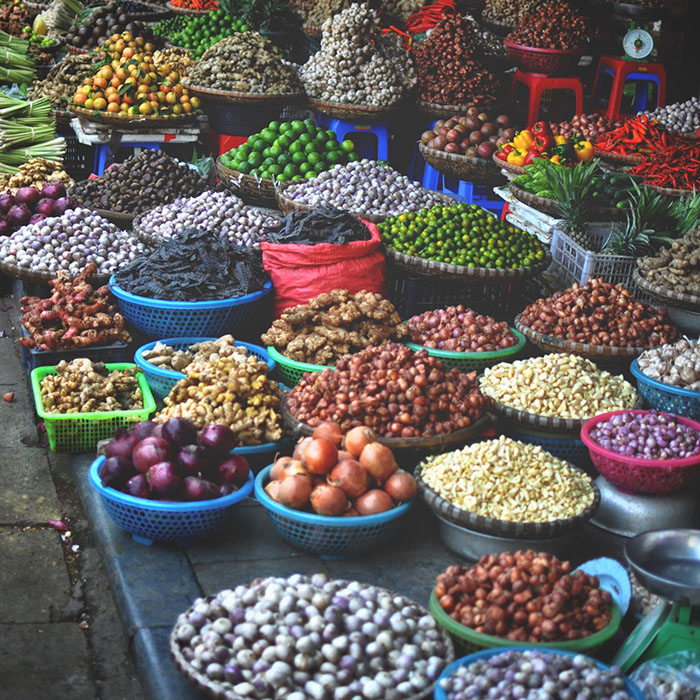 Marché, Hanoi, Vietnam, Stéphan Valentin