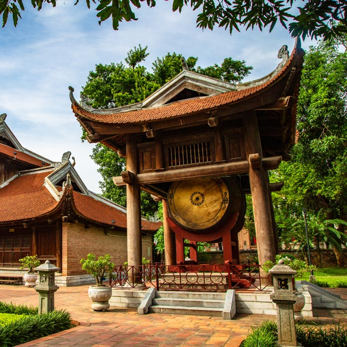 Vietnam, Hanoï, Temple littérature