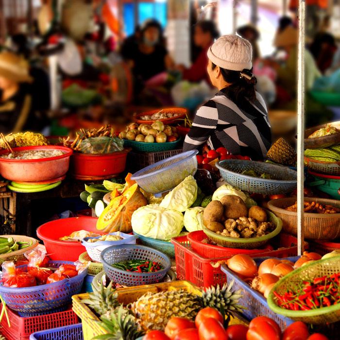 Vietnam, Hoi An, marché centrale