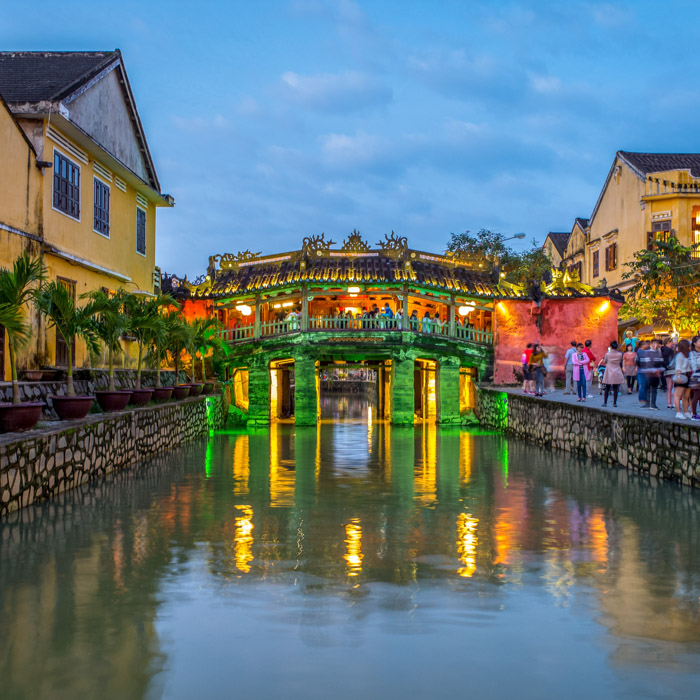 Vietnam, Hoi An, Pont couvert japonais