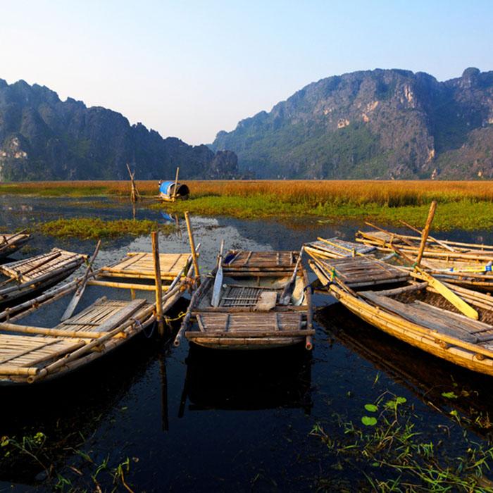 Montagnes, Soleil, Ninh Binh, Vietnam