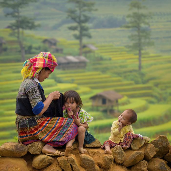 Vietnam, Sapa, Famille, Ethniques
