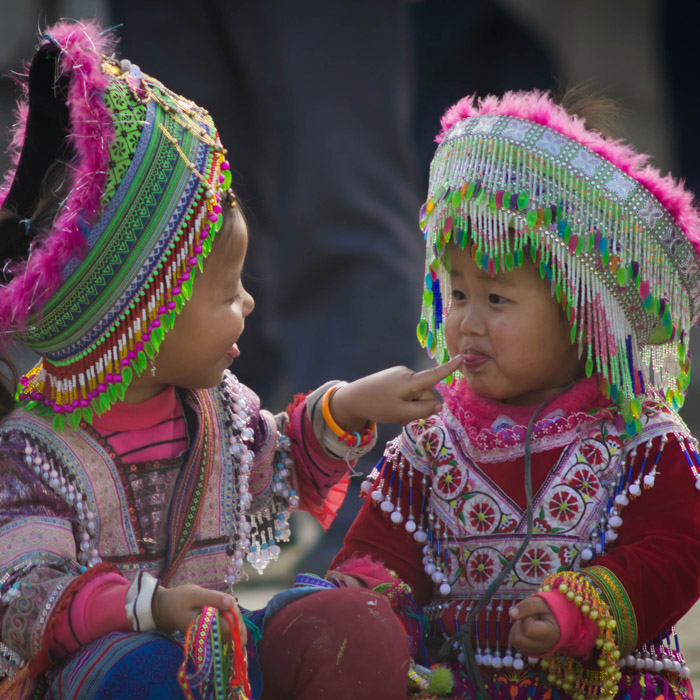 Vietnam, Sapa, Tribues Hmong, traditionnelles
