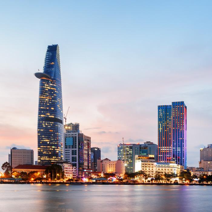 Ville, Moderne, Ho Chi Minh,Vietnam
