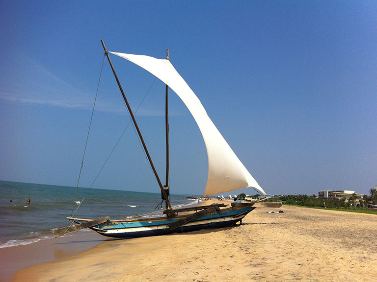Negombo beach boat