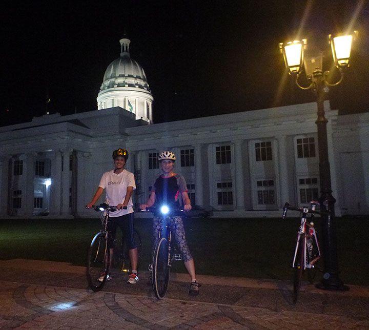 Sri Lanka, Colombo, Vélo, Nuit