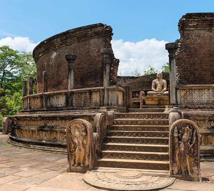Sri Lanka, Polonnaruwa, Ruines, Temple
