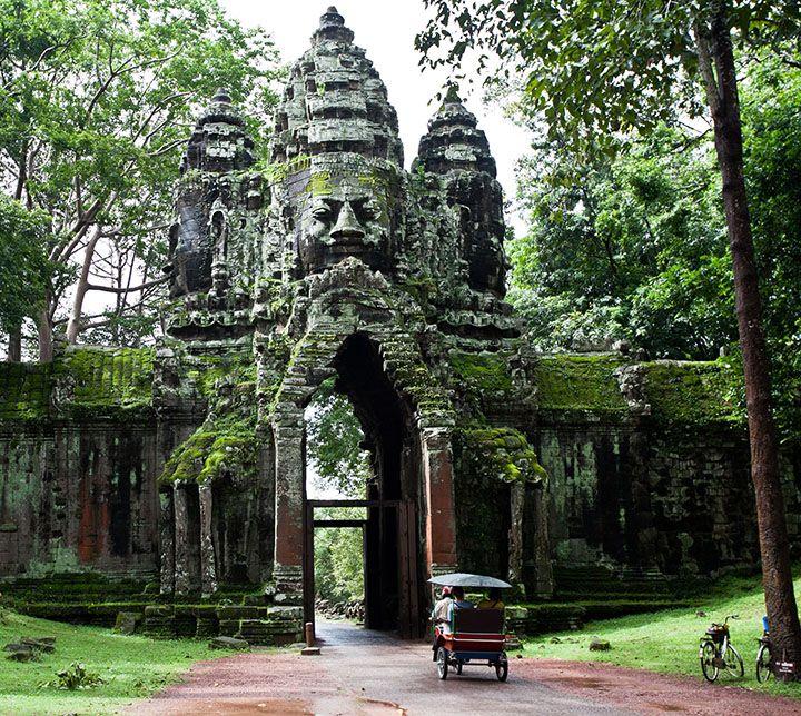 Cambodge, Porte Entrée, Angkor