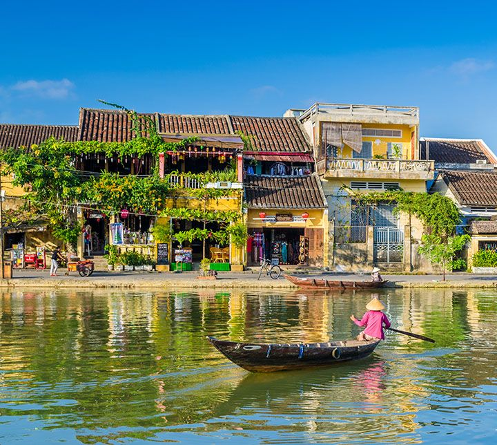 Vietnam, Hoi An, Bateau