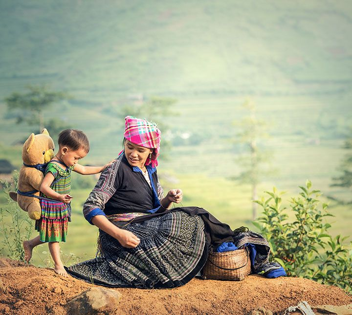 Vietnam, Sapa, Hmong Famille