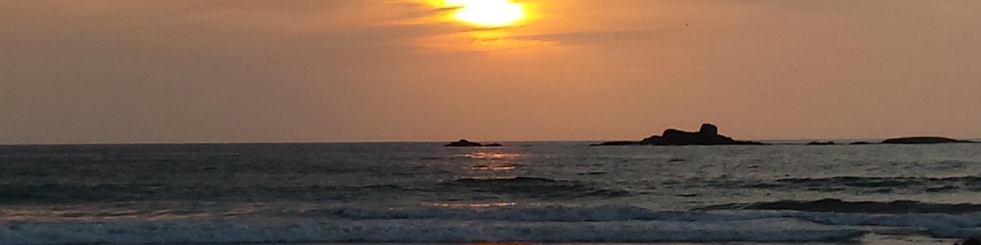 Sunset dans le sud du Sri Lanka